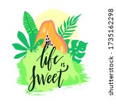 life is sweet   summer vector... | Shutterstock .eps vector #1735162298