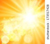 abstract wave  light vector... | Shutterstock .eps vector #173517428