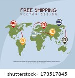 shipping design over blue... | Shutterstock .eps vector #173517845