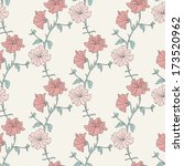 flower seamless pattern.... | Shutterstock .eps vector #173520962