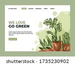 go green landing page . this is ... | Shutterstock .eps vector #1735230902