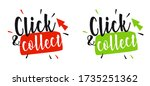click and collect on white... | Shutterstock .eps vector #1735251362