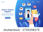 online doctor concept... | Shutterstock .eps vector #1735258175