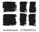 flat paint brush thin long  ...   Shutterstock .eps vector #1735284515