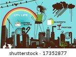 city life | Shutterstock .eps vector #17352877