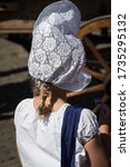 Traditional Lace Cap Worn At...