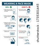 do's and don'ts of wearing face ... | Shutterstock .eps vector #1735301645