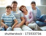 portrait of happy family of... | Shutterstock . vector #173533736
