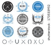 vector vintage badge set. great ... | Shutterstock .eps vector #173533952