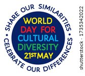 world day for cultural... | Shutterstock .eps vector #1735342022