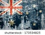 grunge of australia flag | Shutterstock . vector #173534825