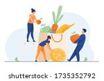 people keeping healthy diet.... | Shutterstock .eps vector #1735352792