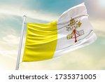 Vatican City National Flag...