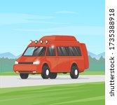 camping  camper voyage  van.... | Shutterstock .eps vector #1735388918