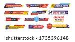 tv title news bar logos  news... | Shutterstock .eps vector #1735396148