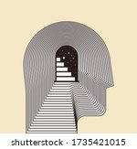 mental health psychotherapy or...   Shutterstock .eps vector #1735421015