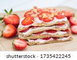 Oat Pancake Cake Filled With...