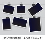 blank instant photo frame set... | Shutterstock .eps vector #1735441175