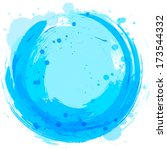 splashes of paint. vector blue... | Shutterstock .eps vector #173544332