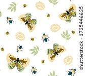 seamless natural pattern ... | Shutterstock .eps vector #1735446635