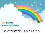 layered blue sky background... | Shutterstock .eps vector #1735451462