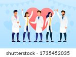 a group of doctors celebrate... | Shutterstock .eps vector #1735452035