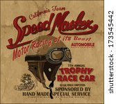 vector old school race poster | Shutterstock .eps vector #173545442