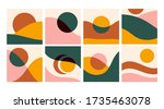 various curves and shapes ... | Shutterstock .eps vector #1735463078