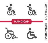 handicap icons . professional ...   Shutterstock .eps vector #1735482635