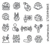 global business line icons set... | Shutterstock .eps vector #1735494845