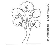 drawing a continuous line tree...   Shutterstock .eps vector #1735496102