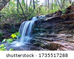Laurel falls in Desoto state park on Lookout mountain in Fort payne, Alabama