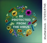 be protected from the virus... | Shutterstock .eps vector #1735519745