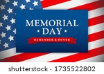 memorial day   remember and... | Shutterstock .eps vector #1735522802