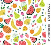 colorful vector seamless... | Shutterstock .eps vector #1735559222