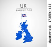 detailed map of united kingdom... | Shutterstock .eps vector #1735564655