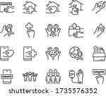set of charity icons  donate ...   Shutterstock .eps vector #1735576352