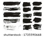 flat paint brush thin long  ... | Shutterstock .eps vector #1735590668