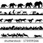 Set Of Editable Vector Animal...
