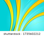 turquoise and yellow smooth... | Shutterstock .eps vector #1735602212
