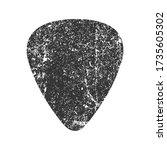 guitar pick icon shape... | Shutterstock .eps vector #1735605302