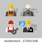 construction workers | Shutterstock .eps vector #173561108