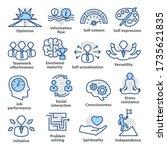 business management icons. set... | Shutterstock . vector #1735621835