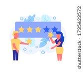 feedback concept. illustration... | Shutterstock . vector #1735623572