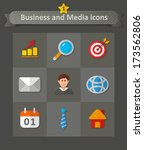 business and media icons.... | Shutterstock .eps vector #173562806