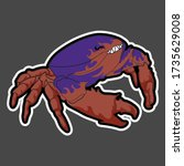 this evil crab is a high...   Shutterstock .eps vector #1735629008