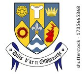 coat of arms of county clare is ... | Shutterstock .eps vector #1735665368