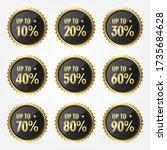 set of sale golden labels  | Shutterstock .eps vector #1735684628