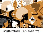 beautiful fashion pattern with... | Shutterstock .eps vector #1735685795