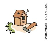 Doodle Birdhouse With Hammer ...